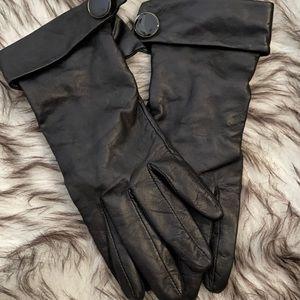 2 for $15🌸 Black leather gloves